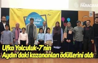 Ufka Yolculuk-7'nin Aydın'daki kazananları ödüllerini...