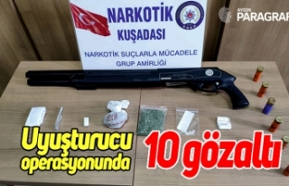 Uyuşturucu operasyonu; 10 gözaltı
