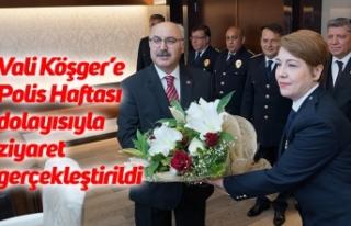 Vali Köşger'e Polis Haftası dolayısıyla ziyaret...
