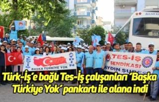 Türk-İş'e bağlı Tes-İş çalışanları 'Başka...