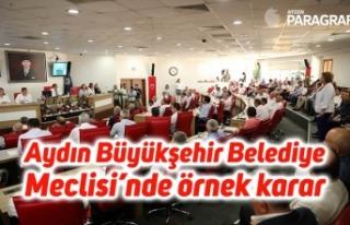 Aydın Büyükşehir Belediye Meclisi'nde örnek...