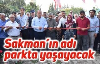Kazada hayatını kaybeden Sakman'ın adı parkta...