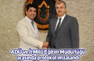 ADÜ ve İl Milli Eğitim Müdürlüğü arasında...