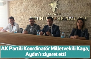 AK Partili Koordinatör Milletvekili Kaya, Aydın'ı...