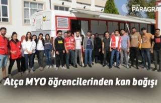 Atça MYO öğrencilerinden kan bağışı