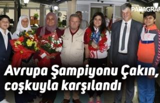 Avrupa Şampiyonu Ayşegül Çakın, memleketinde...