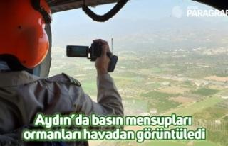 Aydın'da basın mensupları ormanları havadan...