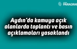 Aydın'da kamuya açık alanlarda toplantı ve basın...