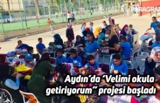 """Aydın'da 'Velimi okula getiriyorum"""" projesi..."""