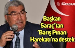Başkan Saraç'tan 'Barış Pınarı Harekatı'na...