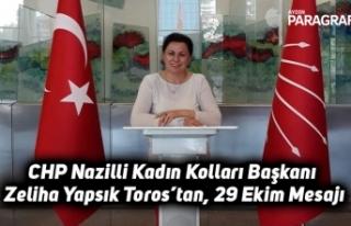 CHP Nazilli Kadın Kolları Başkanı Zeliha Yapsık...