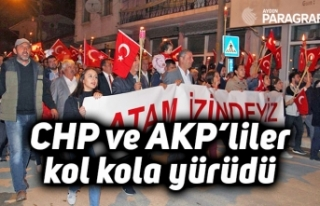 CHP ve AKP'liler kol kola yürüdü