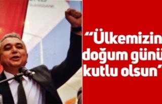 """CHP İl Başkanı Ali Çankır; """"Ülkemizin doğum..."""