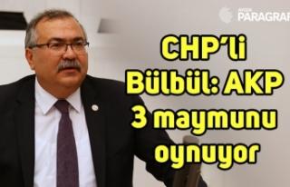 CHP'li Bülbül: AKP 3 maymunu oynuyor
