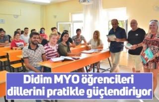 Didim MYO öğrencileri dillerini pratikle güçlendiriyor