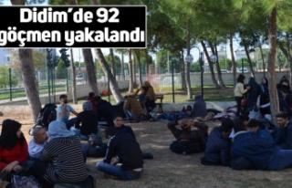 Didim'de 92 göçmen yakalandı