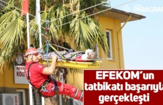EFEKOM'un tatbikatı başarıyla gerçekleşti