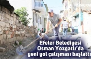 Efeler Belediyesi Osman Yozgatlı'da yeni yol çalışması...