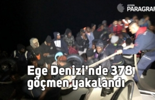 Ege Denizi'nde 378  göçmen yakalandı