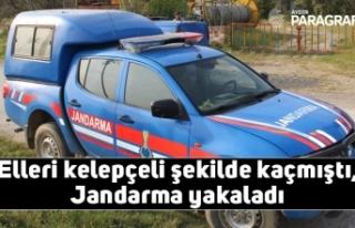 Elleri kelepçeli şekilde kaçmıştı, Jandarma...
