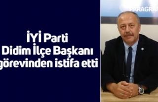 İYİ Parti Didim İlçe Başkanı görevinden istifa...