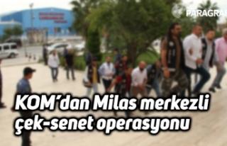 KOM'dan Milas merkezli çek-senet operasyonu