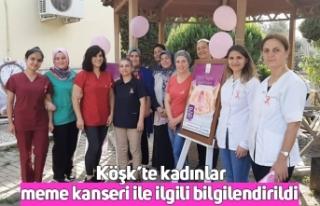 Köşk'te kadınlar meme kanseri ile ilgili bilgilendirildi
