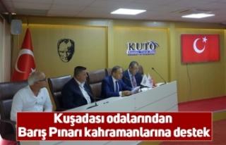 Kuşadası odalarından Barış Pınarı kahramanlarına...