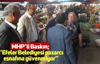 """MHP'li Baskın; """"Efeler Belediyesi pazarcı esnafına..."""