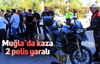 Muğla'da kaza: 2 polis yaralı