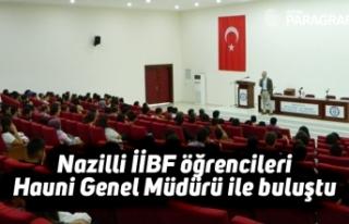 Nazilli İİBF öğrencileri Hauni Genel Müdürü...