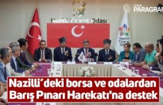 Nazilli'deki borsa ve odalardan Barış Pınarı...