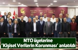 NTO üyelerine 'Kişisel Verilerin Korunması'...
