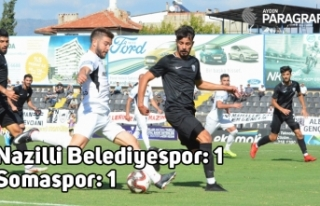 TFF 3. Lig: Nazilli Belediyespor: 1 - Somaspor: 1