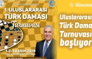 Uluslararası Türk Dama Turnuvası başlıyor