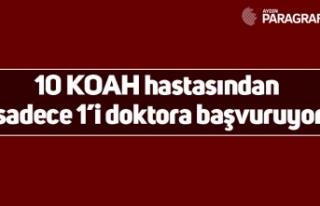 10 KOAH hastasından sadece 1'i doktora başvuruyor