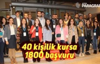 40 kişilik kursa 1800 başvuru
