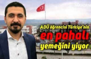 ADÜ öğrencisi Türkiye'nin en pahalı yemeğini...