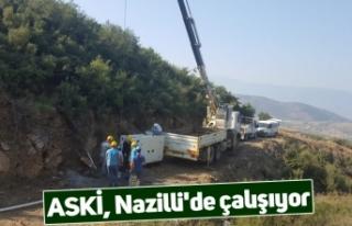 ASKİ, Nazilli'de çalışıyor