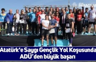 Atatürk'e Saygı Gençlik Yol Koşusunda ADÜ'den...
