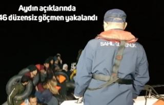 Aydın açıklarında 46 düzensiz göçmen yakalandı