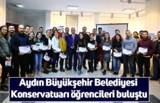 Aydın Büyükşehir Belediyesi Konservatuarı öğrencileri...