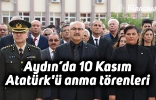 Aydın'da 10 Kasım Atatürk'ü anma törenleri