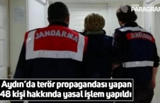 Aydın'da terör propagandası yapan 48 kişi hakkında...