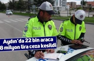 Aydın'da 22 bin araca 8 milyon lira ceza kesildi