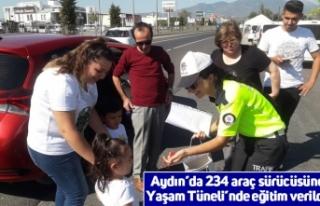 Aydın'da 234 araç sürücüsüne Yaşam Tüneli'nde...