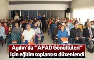 """Aydın'da """"AFAD Gönüllüleri"""" için eğitim..."""
