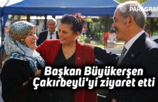 Başkan Büyükerşen Çakırbeyli'yi ziyaret...