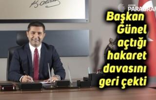 Başkan Ömer Günel açtığı hakaret davasını...