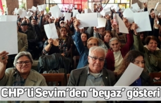 CHP'li Sevim'den 'beyaz' gösteri